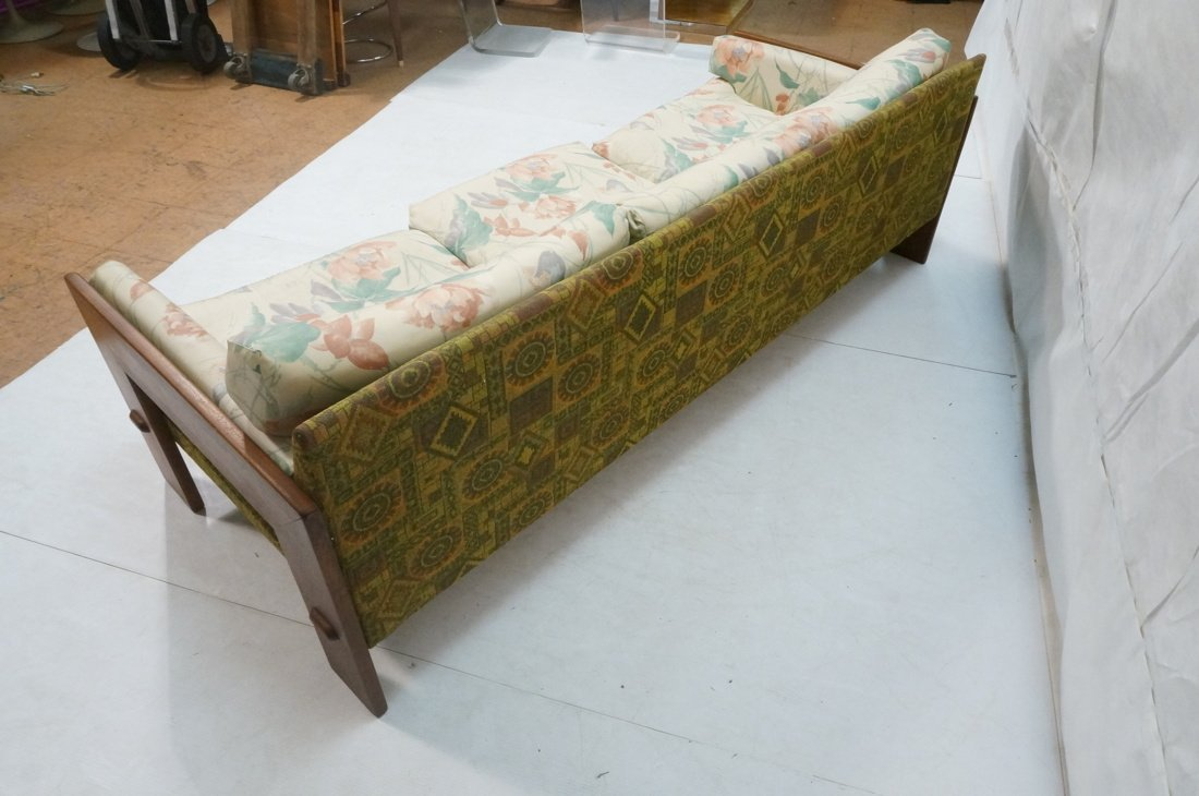 Tobia Scarpa Style Wide wood arm Sofa Couch. Back - 4