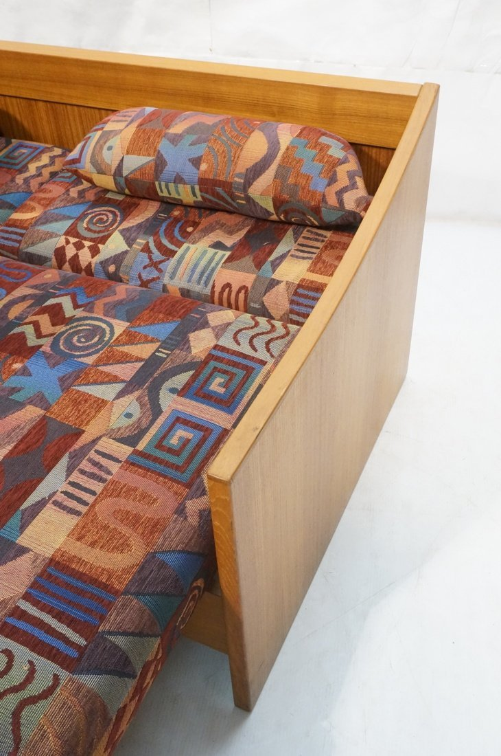 Teak Danish Modern Sofa Bed. Southwest fabric cus - 3