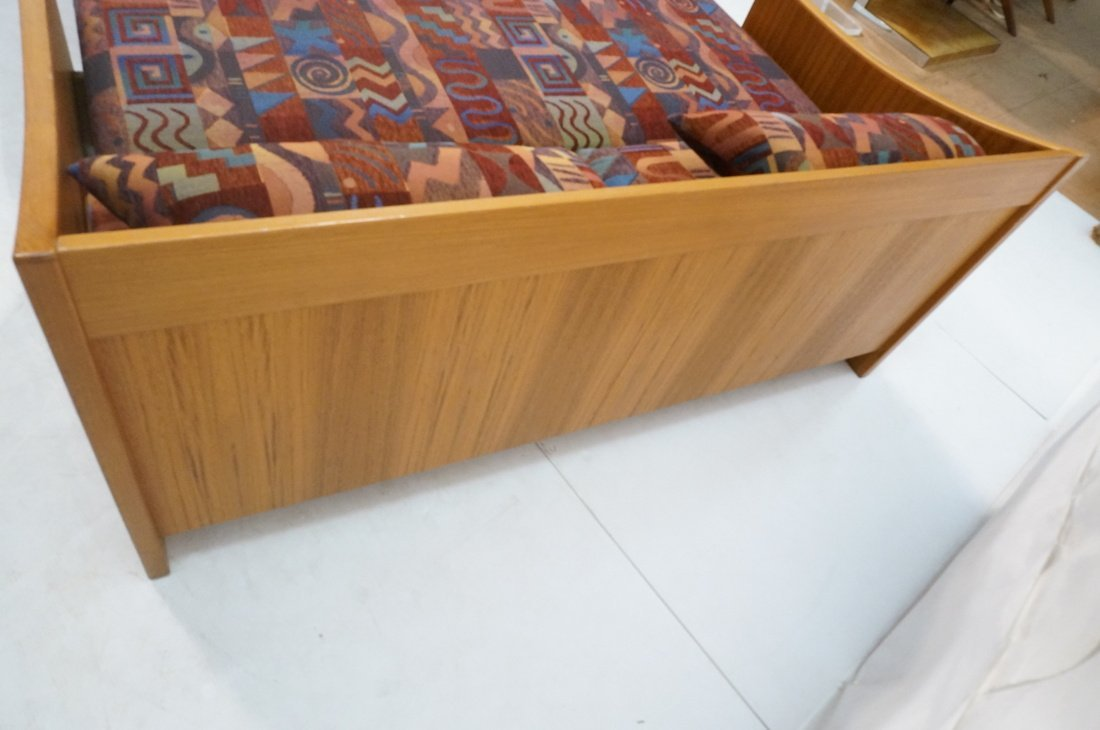 Teak Danish Modern Sofa Bed. Southwest fabric cus - 5