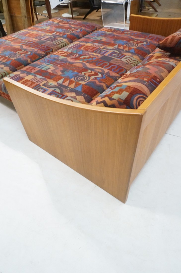 Teak Danish Modern Sofa Bed. Southwest fabric cus - 6