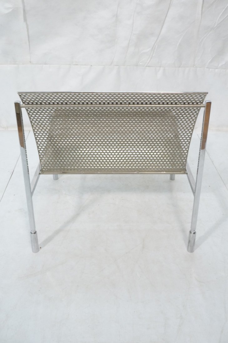 Industrial Metal Pierced Mesh Sheet Lounge Chair. - 4