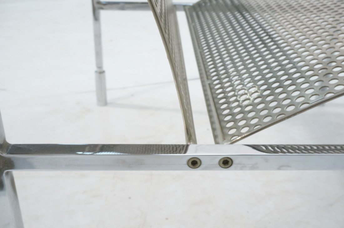 Industrial Metal Pierced Mesh Sheet Lounge Chair. - 6