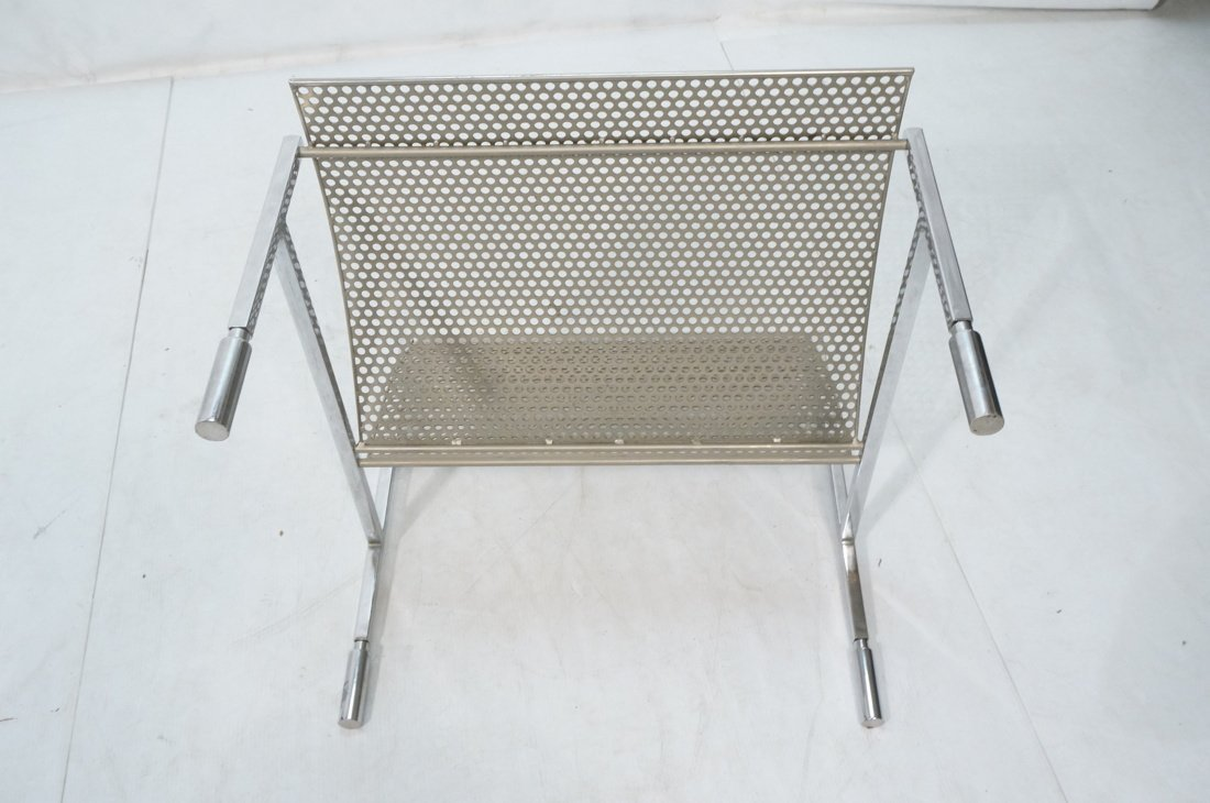 Industrial Metal Pierced Mesh Sheet Lounge Chair. - 7