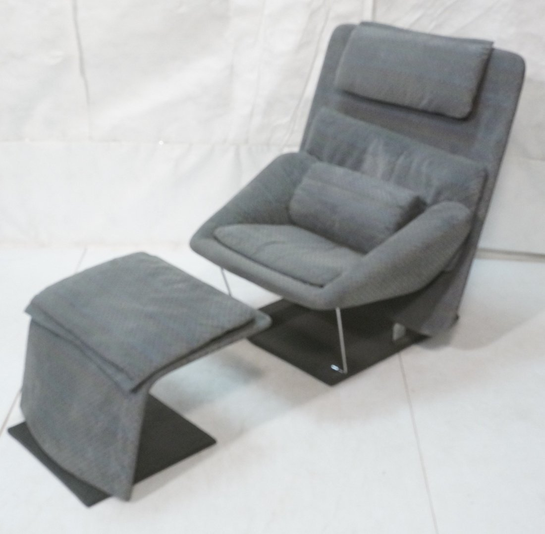 Fratelli Saporiti Lounge Chair with separate foot