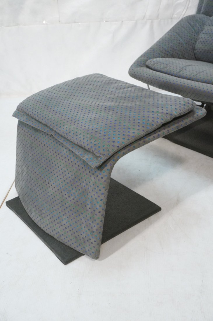 Fratelli Saporiti Lounge Chair with separate foot - 2