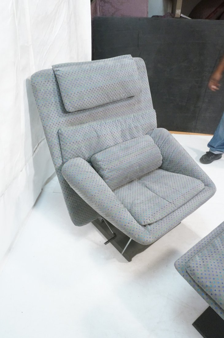Fratelli Saporiti Lounge Chair with separate foot - 7