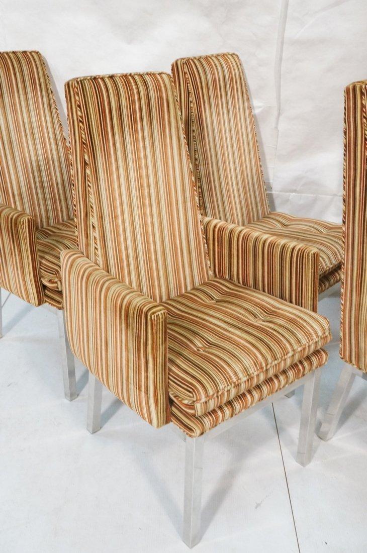 Set 6 Modern Dining Chairs. Aluminum square legs - 2