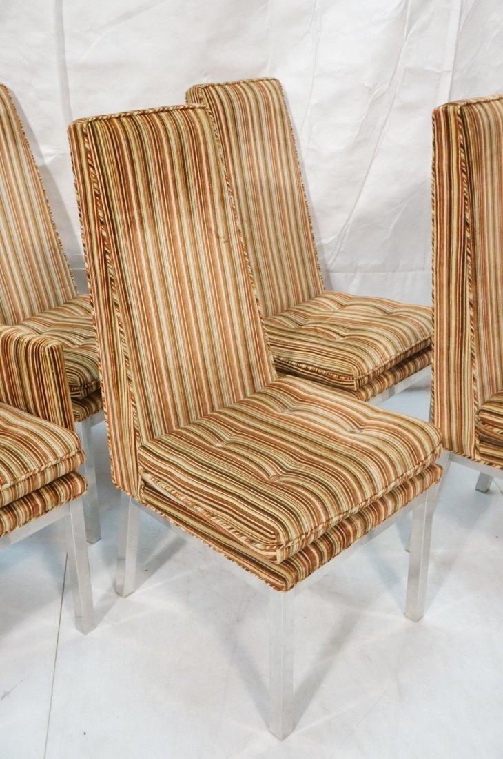 Set 6 Modern Dining Chairs. Aluminum square legs - 3