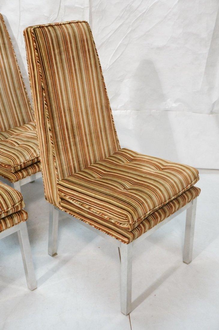 Set 6 Modern Dining Chairs. Aluminum square legs - 4