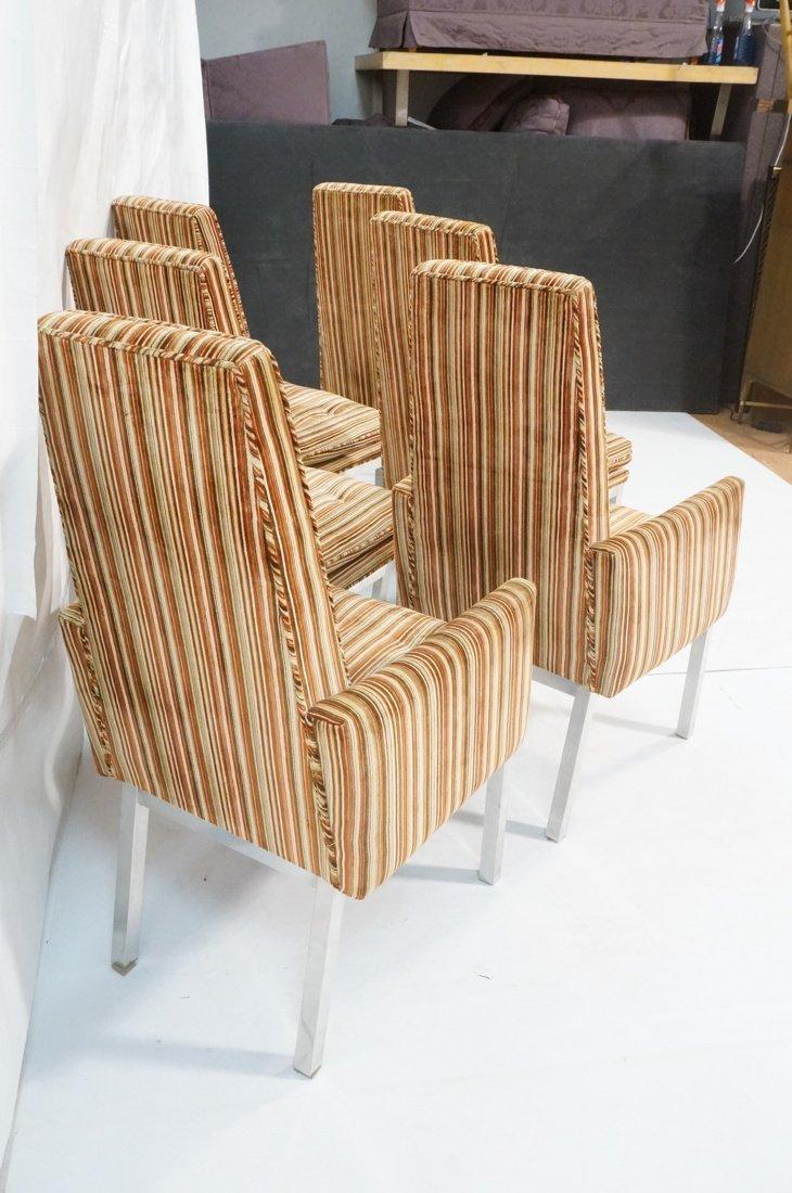 Set 6 Modern Dining Chairs. Aluminum square legs - 5
