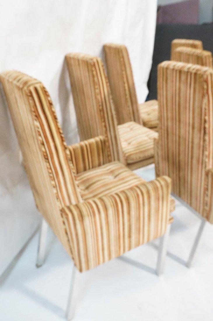 Set 6 Modern Dining Chairs. Aluminum square legs - 6