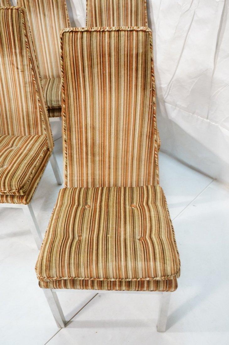 Set 6 Modern Dining Chairs. Aluminum square legs - 8
