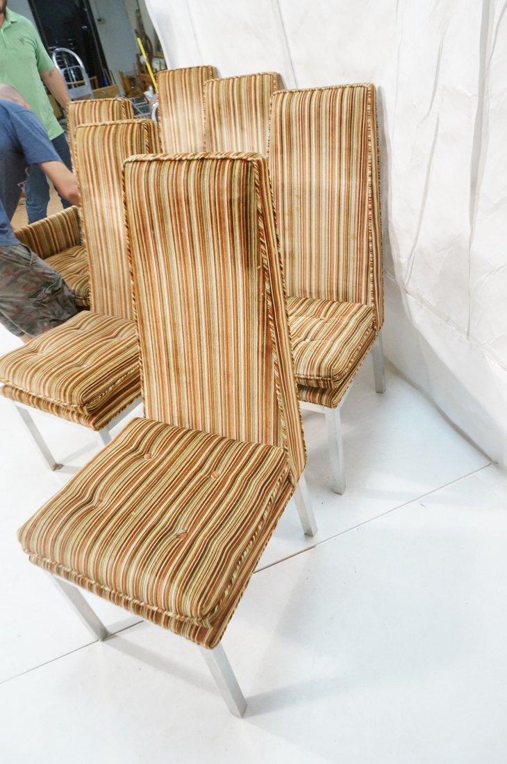 Set 6 Modern Dining Chairs. Aluminum square legs - 9