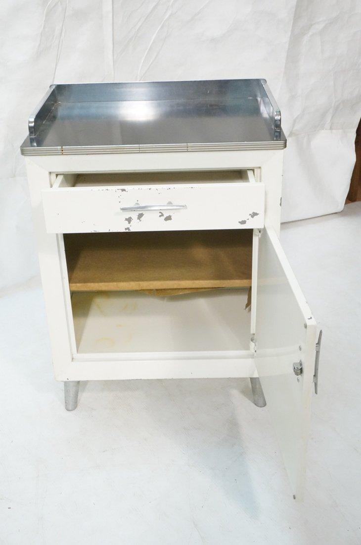White Metal Industrial Cabinet. Black laminate to - 3