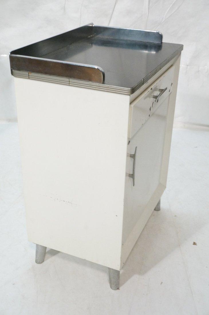 White Metal Industrial Cabinet. Black laminate to - 4