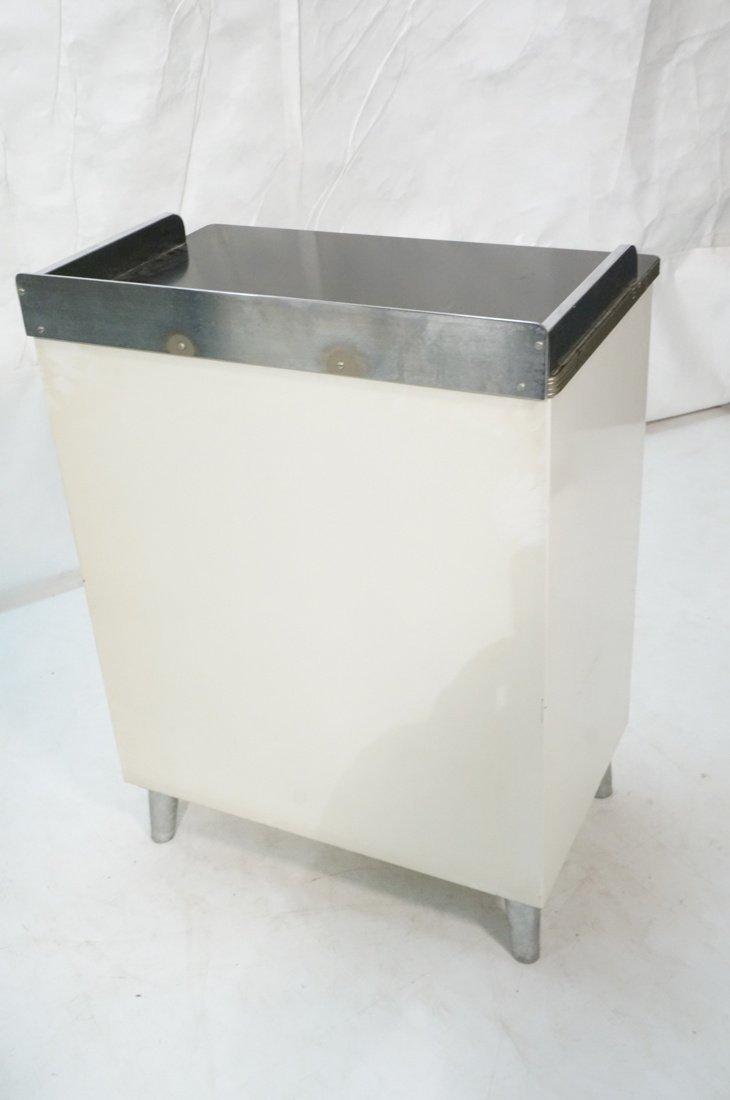White Metal Industrial Cabinet. Black laminate to - 6