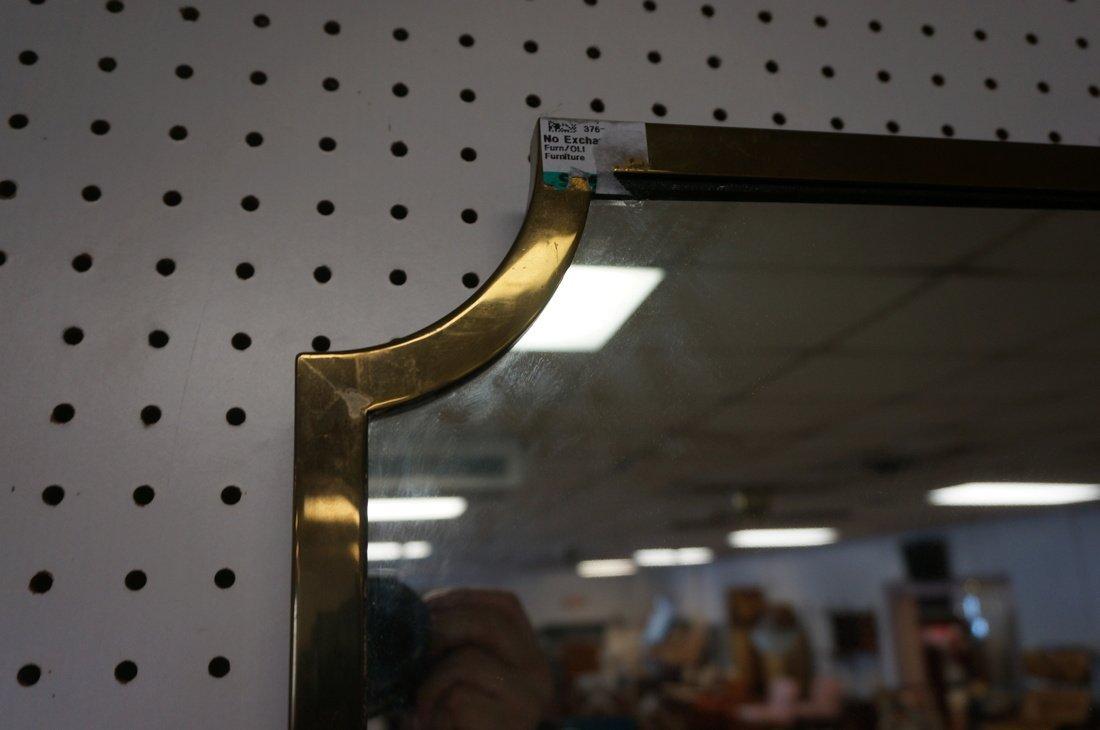 Brass Trimmed Wall Mirror. Modernist. Rectangle w - 3