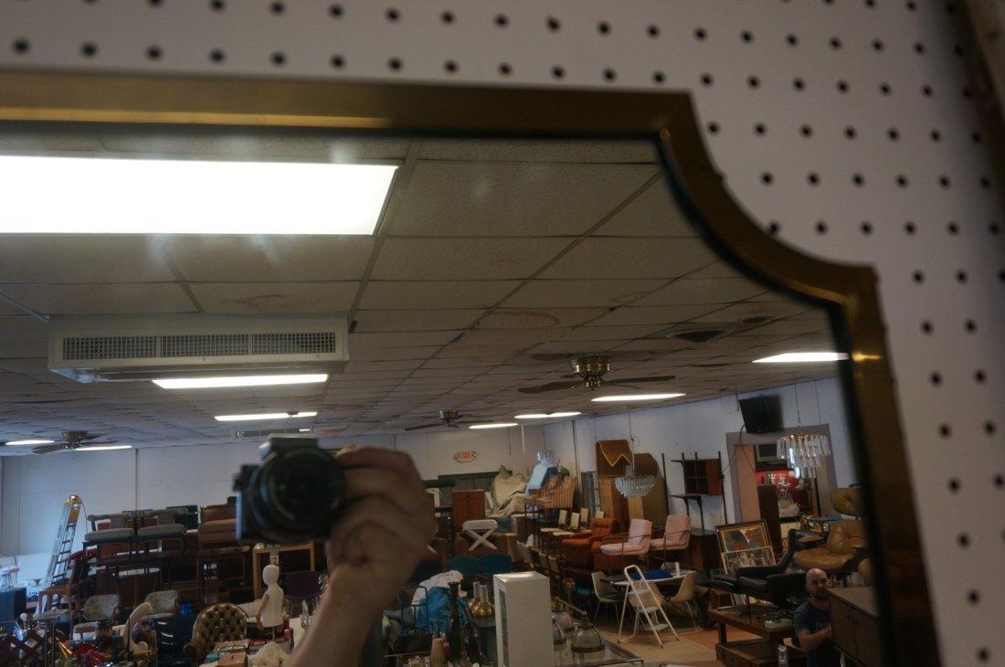 Brass Trimmed Wall Mirror. Modernist. Rectangle w - 4