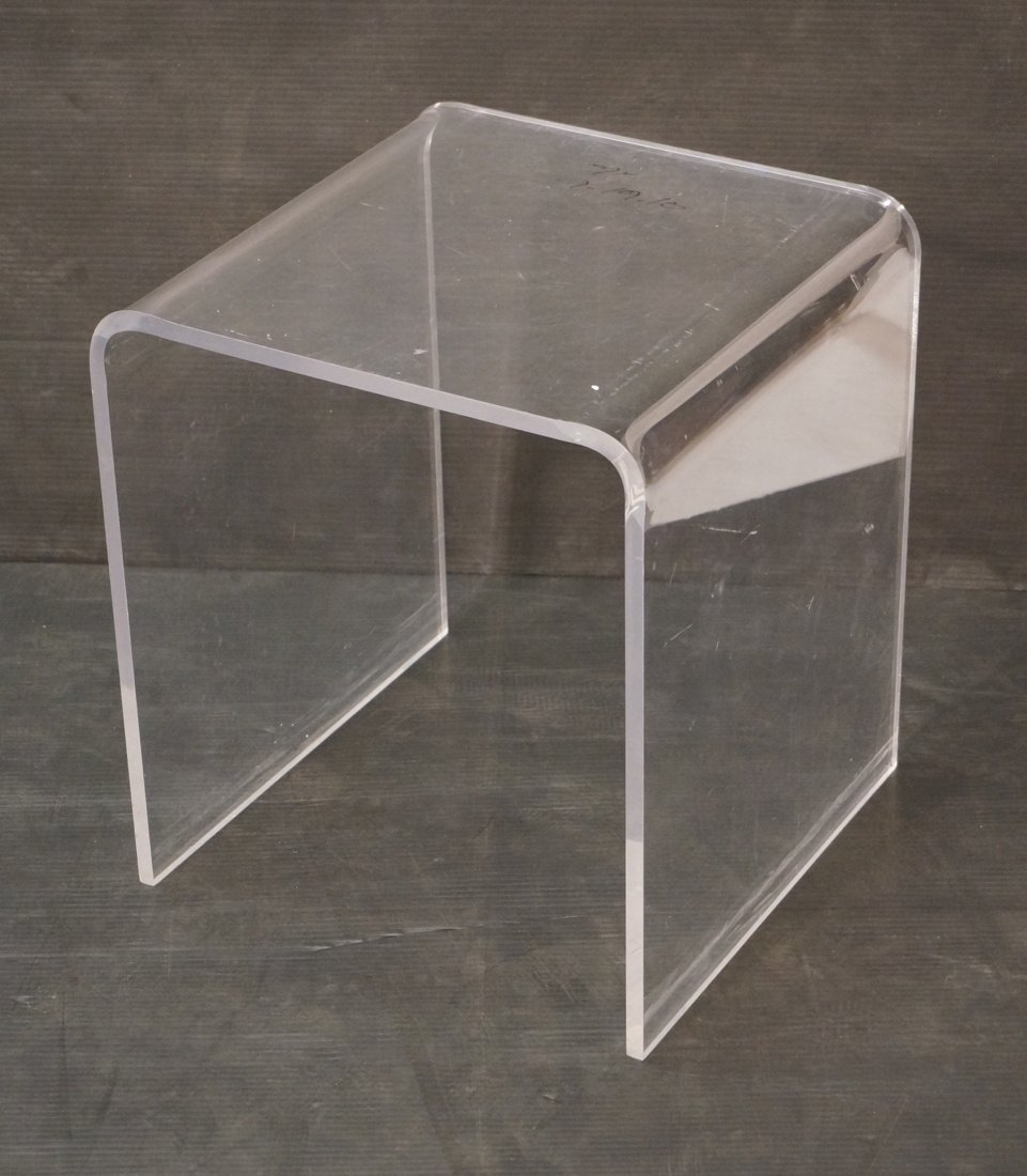 Molded Lucite Side Table. Small