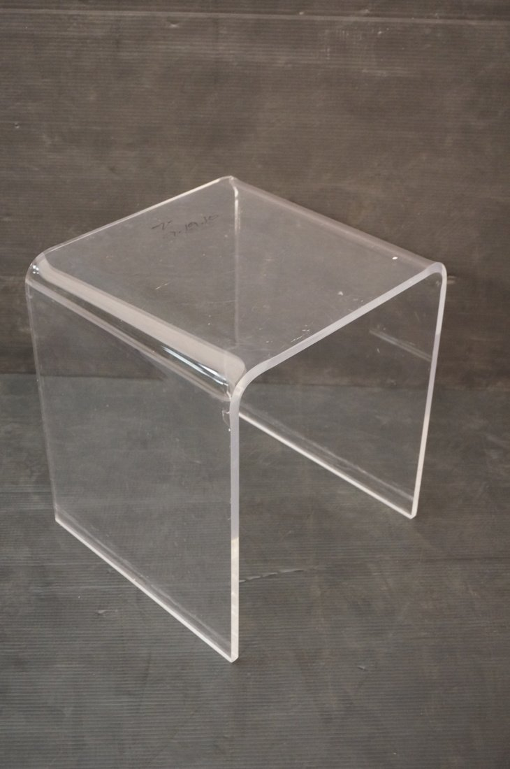 Molded Lucite Side Table. Small - 2