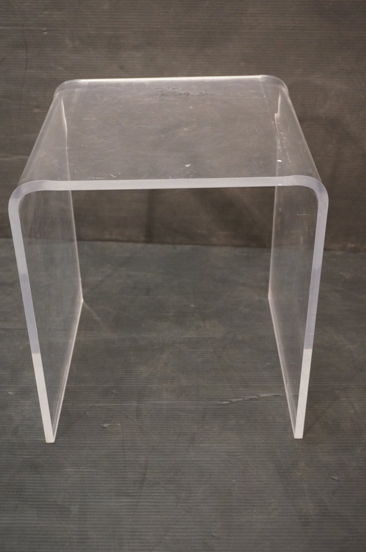 Molded Lucite Side Table. Small - 3