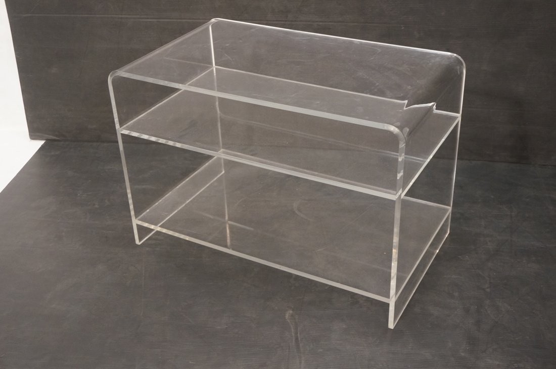 Molded Lucite Side Table. Two lower shelves - 2