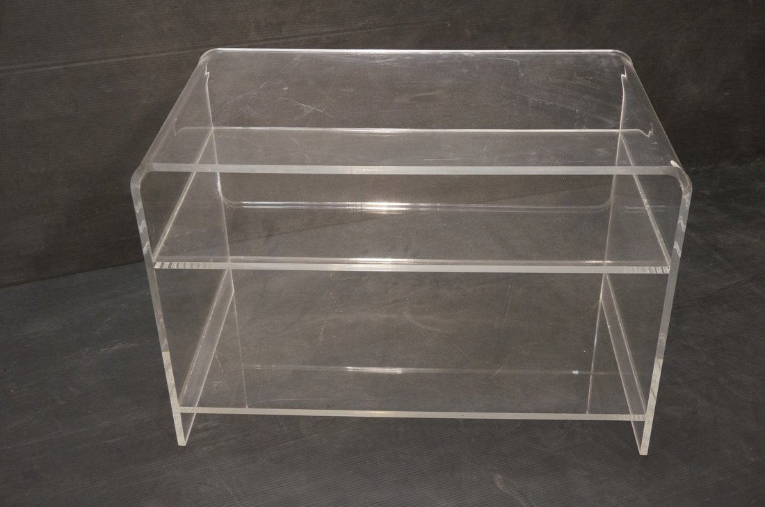 Molded Lucite Side Table. Two lower shelves - 3