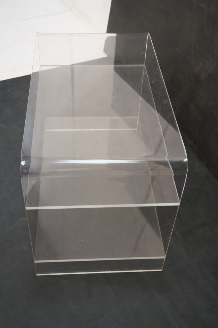 Molded Lucite Side Table. Two lower shelves - 6