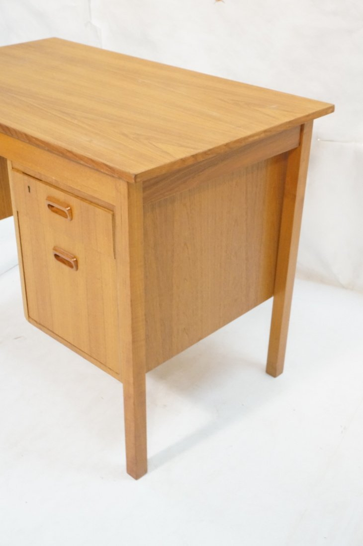 "Drop Side Danish Modern Teak Desk. Drop is 19.5"" - 2"
