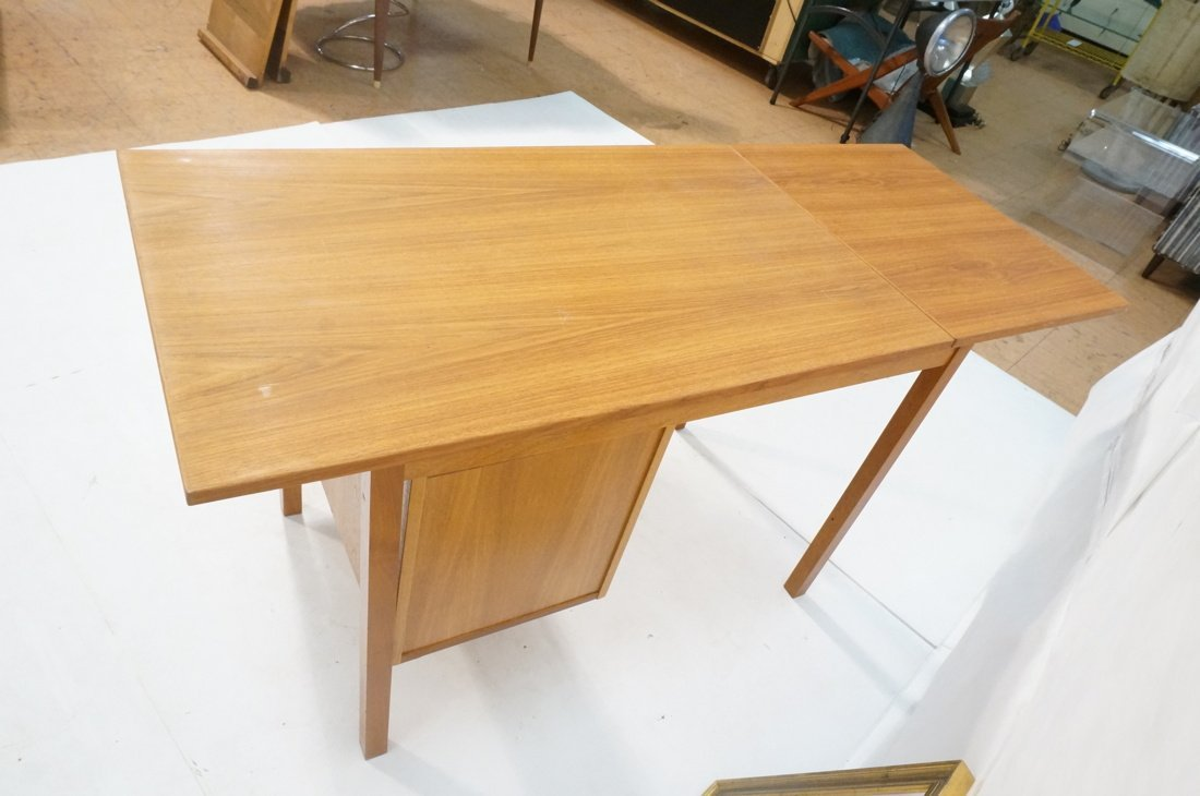 "Drop Side Danish Modern Teak Desk. Drop is 19.5"" - 5"