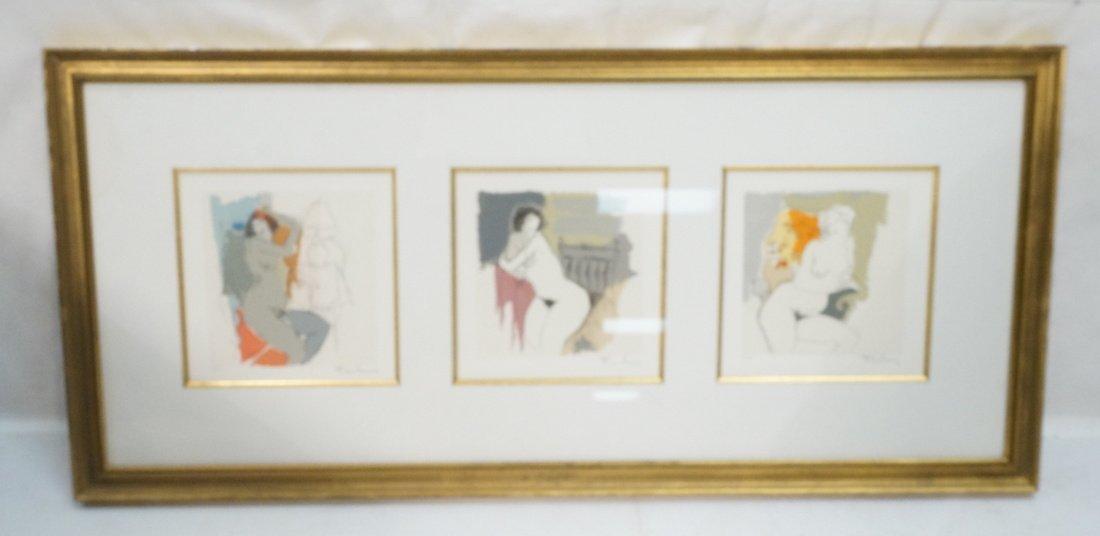 3 ITZCHAK TARKAY Prints. Nude Women. All pencil s