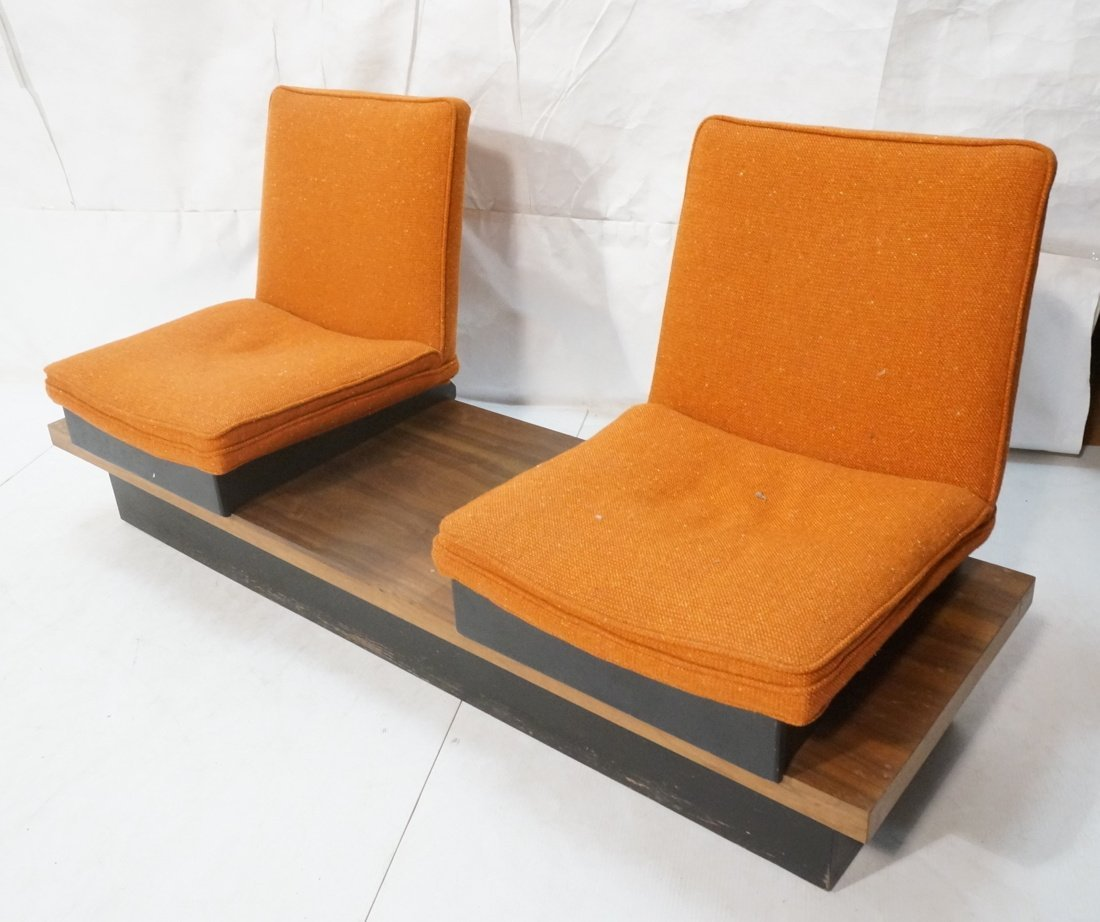 3pc  Modern Seating. Thayer Coggin Label. Two Lou