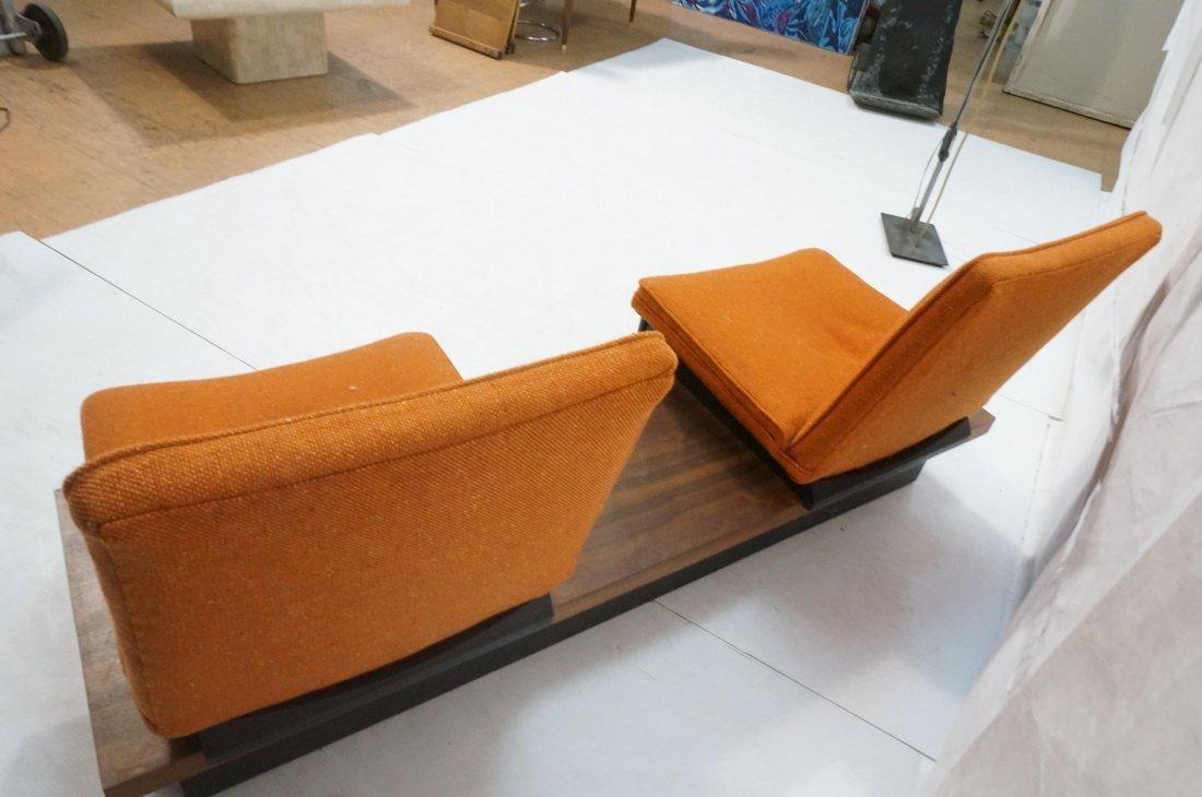 3pc  Modern Seating. Thayer Coggin Label. Two Lou - 8