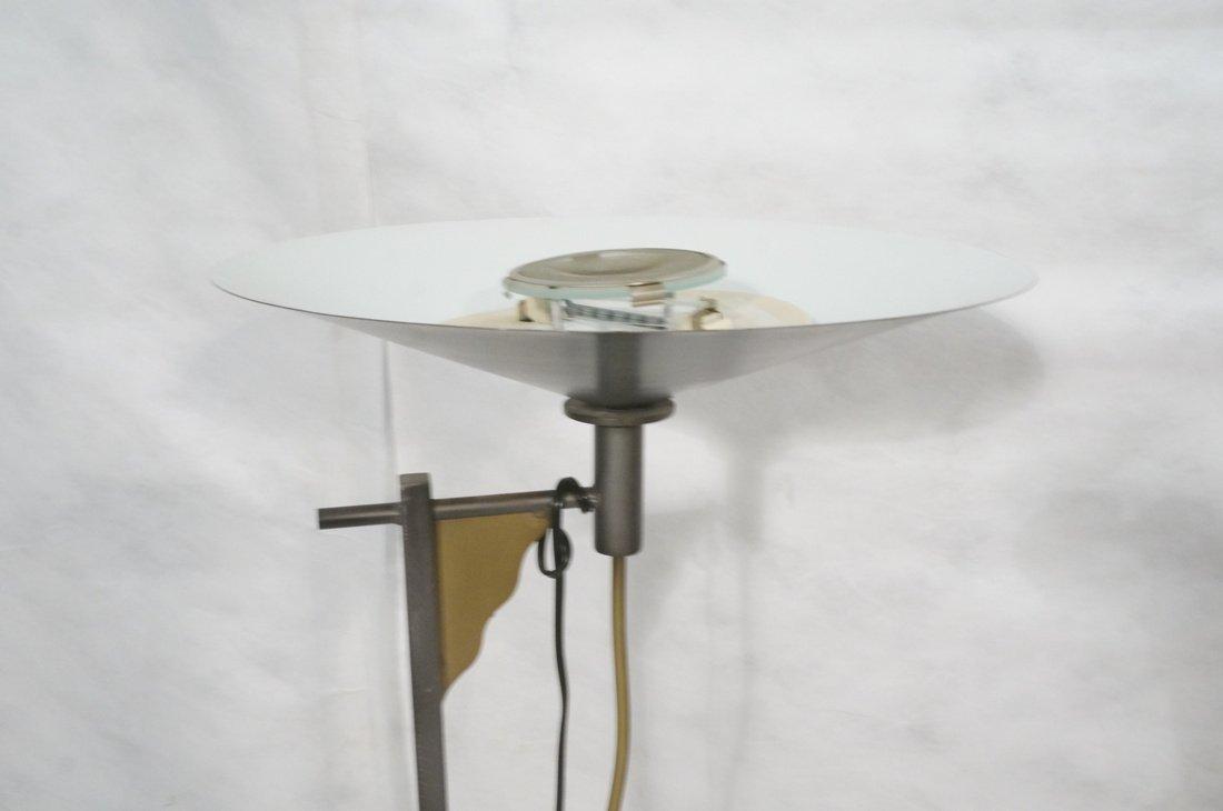 WESTEK Memphis style Mixed Metal Torch Floor Lamp - 2