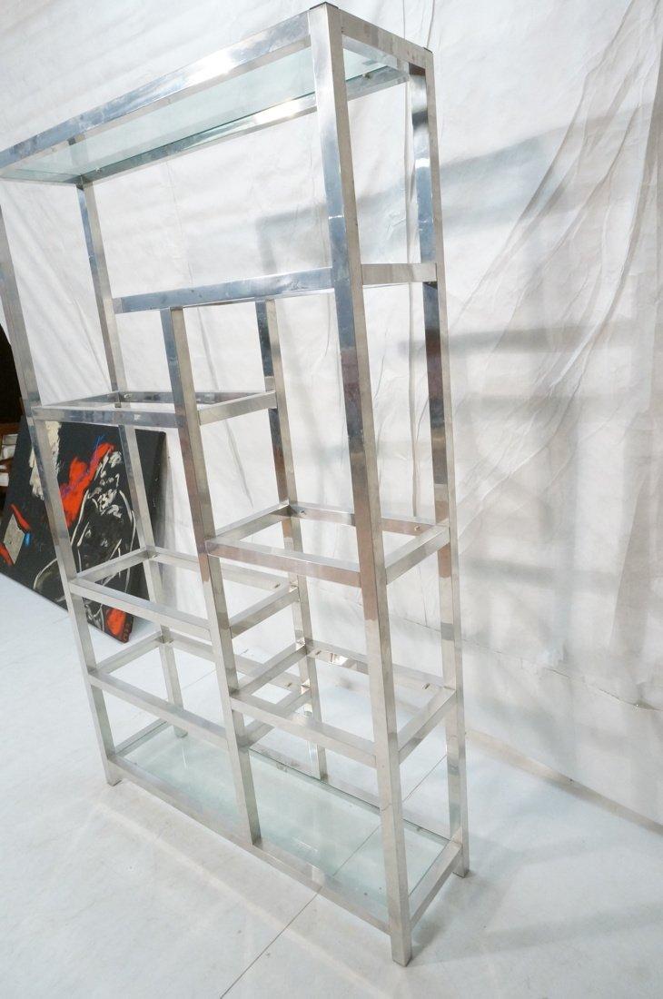 Aluminum Modernist Etagere. Staggered shelves. - 3
