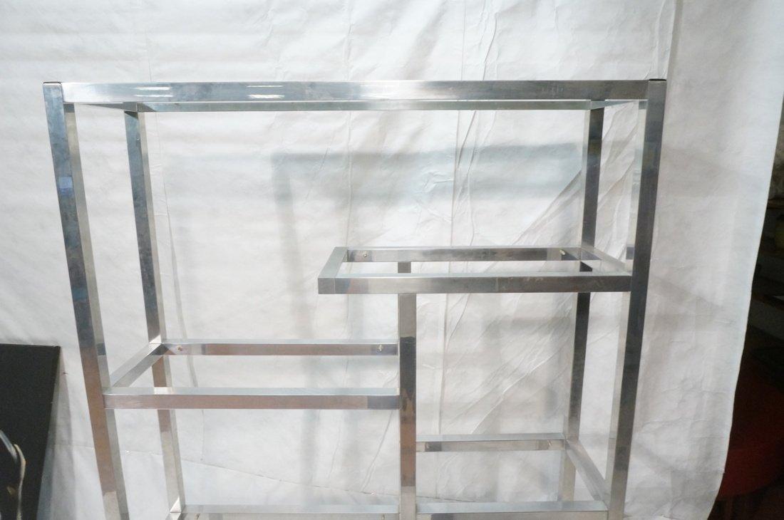 Aluminum Modernist Etagere. Staggered shelves. - 4