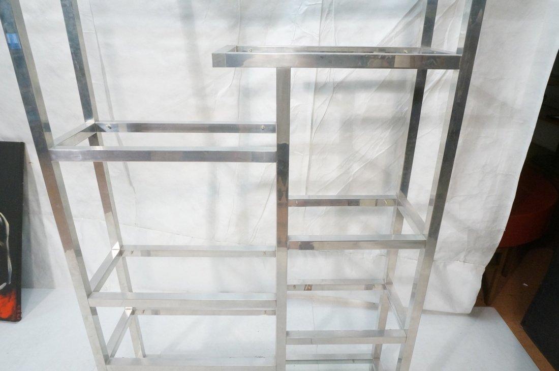 Aluminum Modernist Etagere. Staggered shelves. - 5