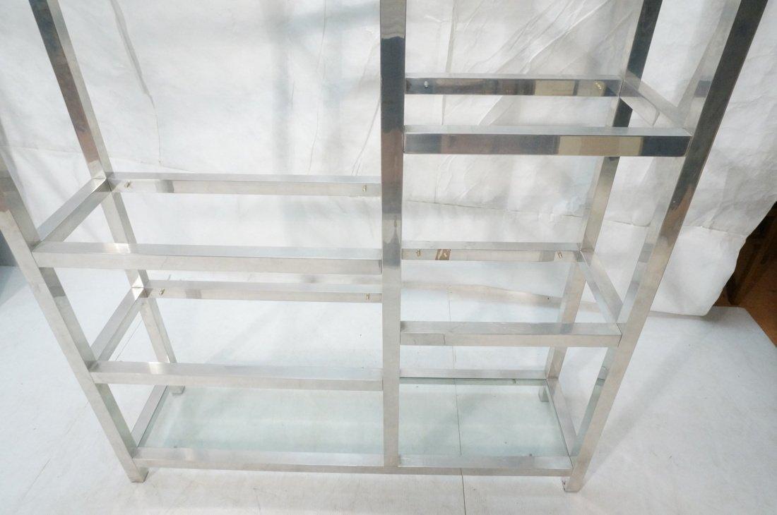 Aluminum Modernist Etagere. Staggered shelves. - 6