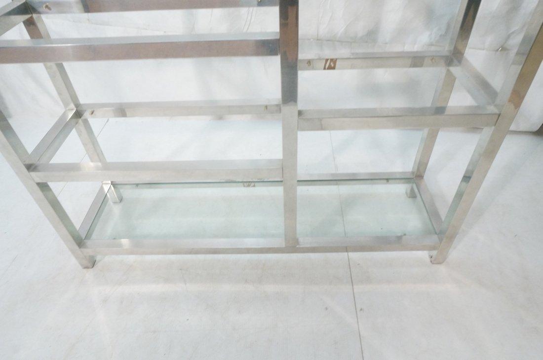 Aluminum Modernist Etagere. Staggered shelves. - 7