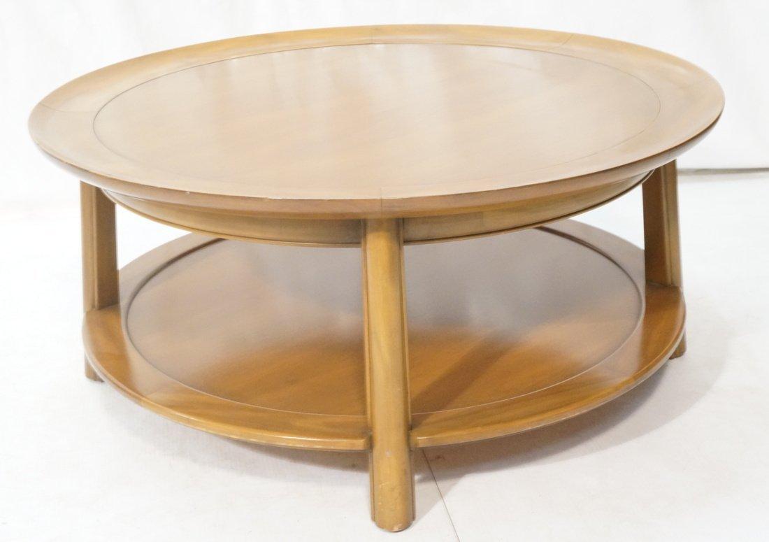 Widdicomb style Round Coffee Table. Flared lip. L