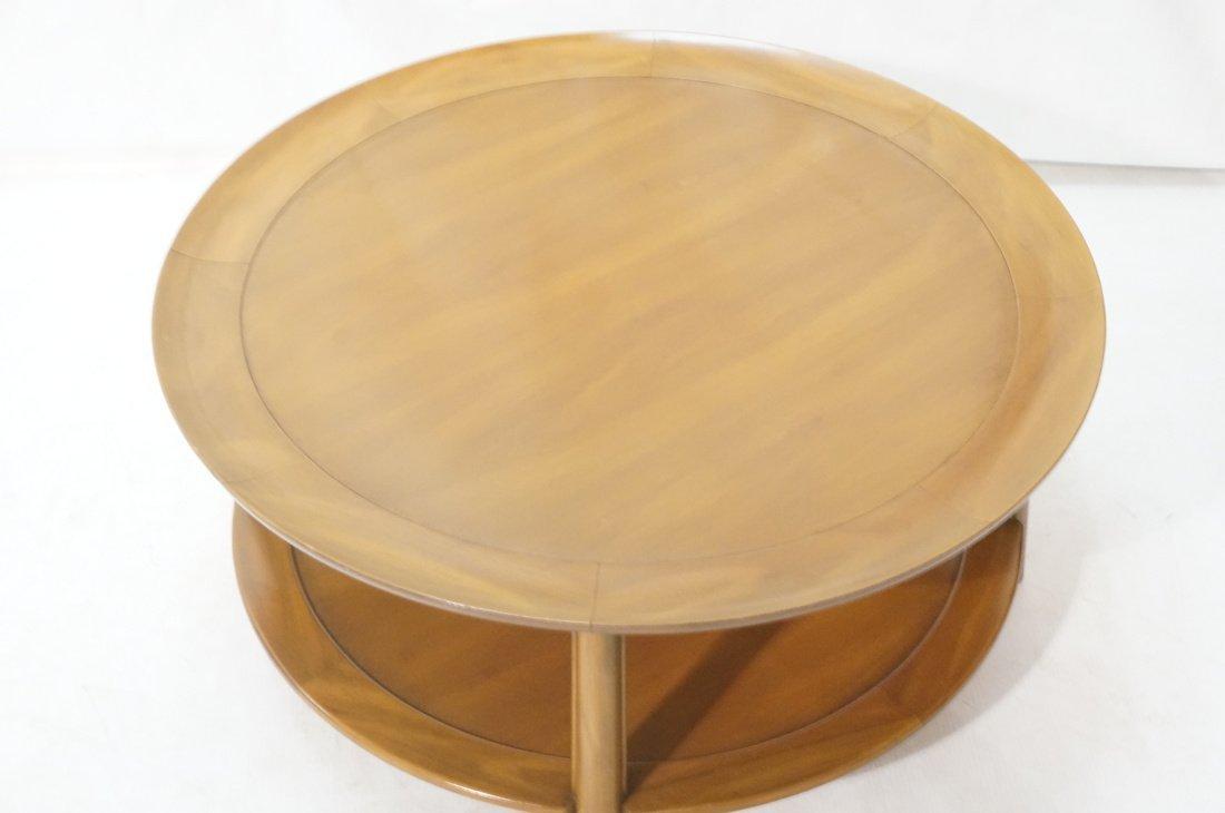 Widdicomb style Round Coffee Table. Flared lip. L - 2