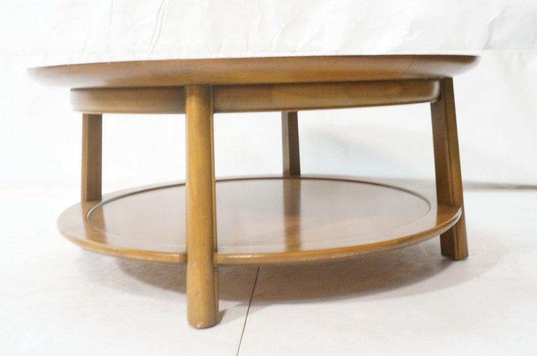 Widdicomb style Round Coffee Table. Flared lip. L - 3