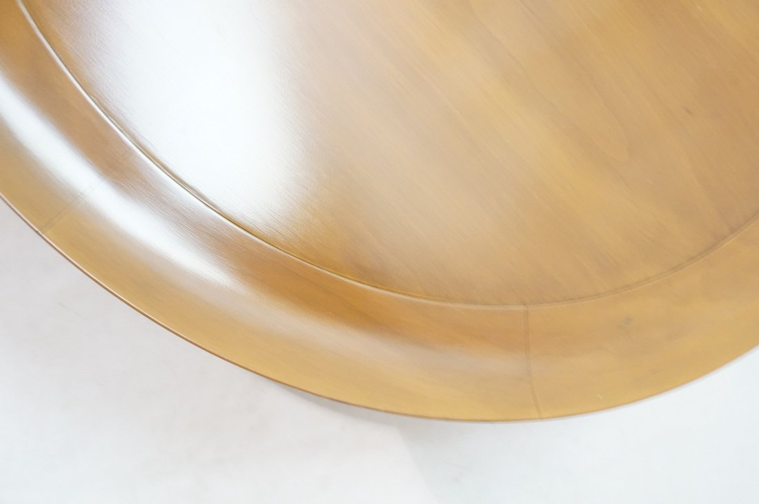 Widdicomb style Round Coffee Table. Flared lip. L - 4
