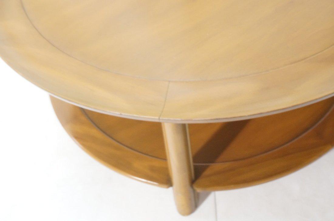 Widdicomb style Round Coffee Table. Flared lip. L - 7