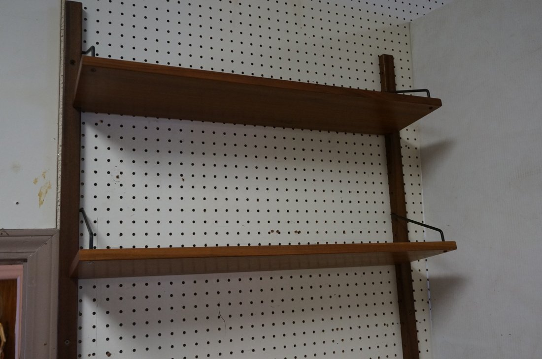 Modern Walnut Wall Shelf Bookcase Unit. One drop - 3