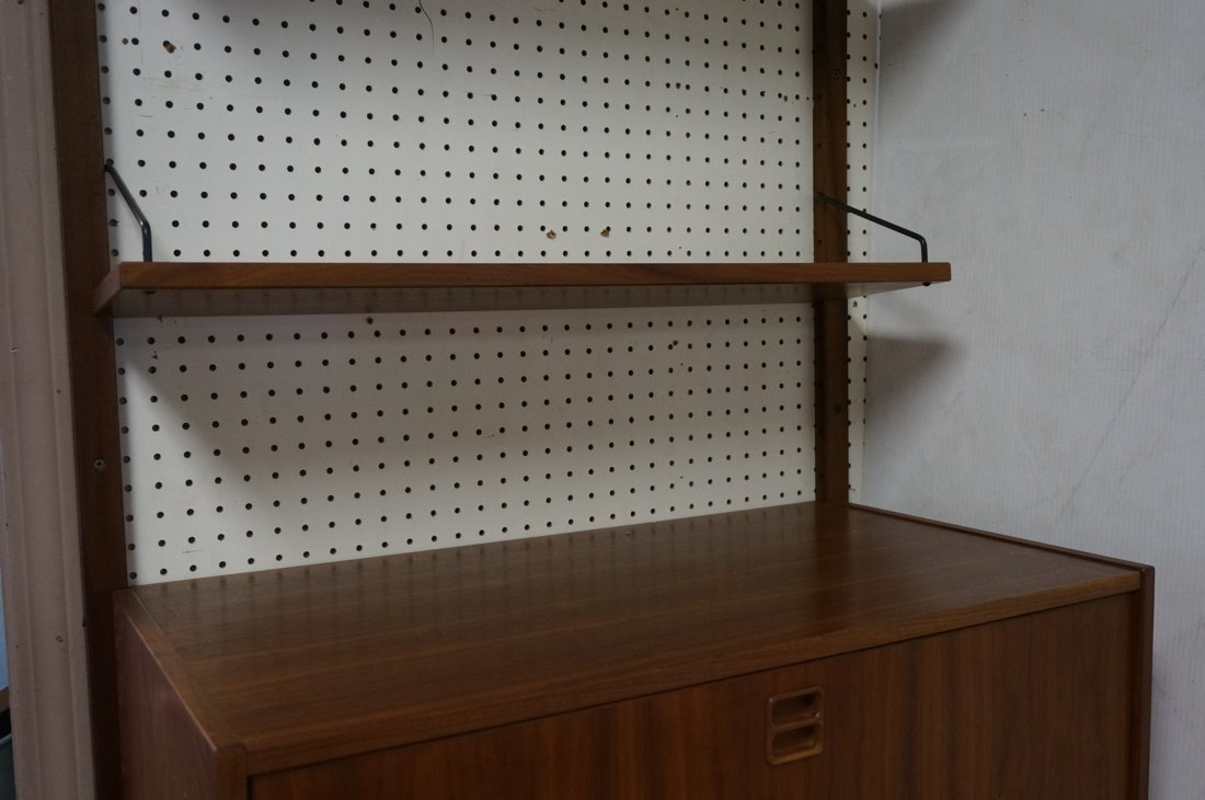 Modern Walnut Wall Shelf Bookcase Unit. One drop - 5