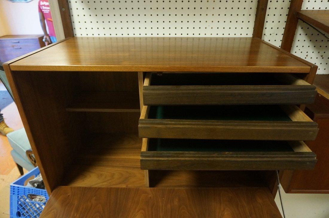 Modern Walnut Wall Shelf Bookcase Unit. One drop - 6