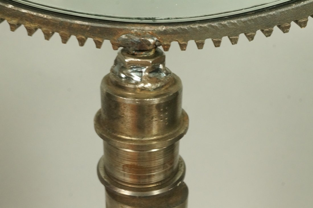 Industrial Magiscope Table Sculpture. Dimpled gla - 5