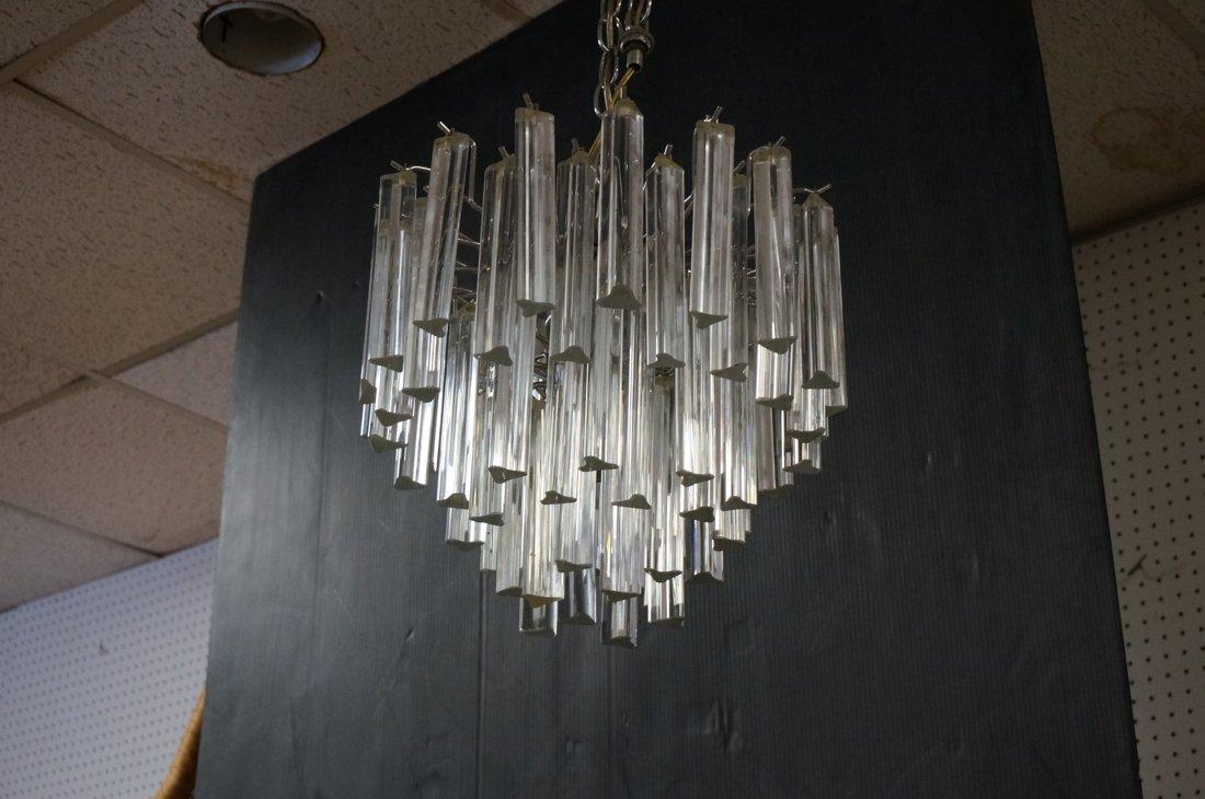 Small Hanging Chandelier. Three tiers glass hangi