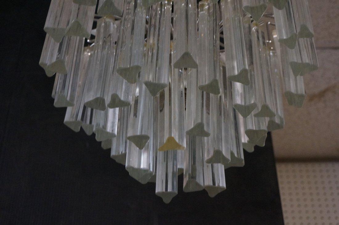 Small Hanging Chandelier. Three tiers glass hangi - 2